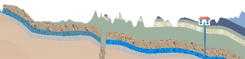 EiszeitQuell Gesteinsschichten