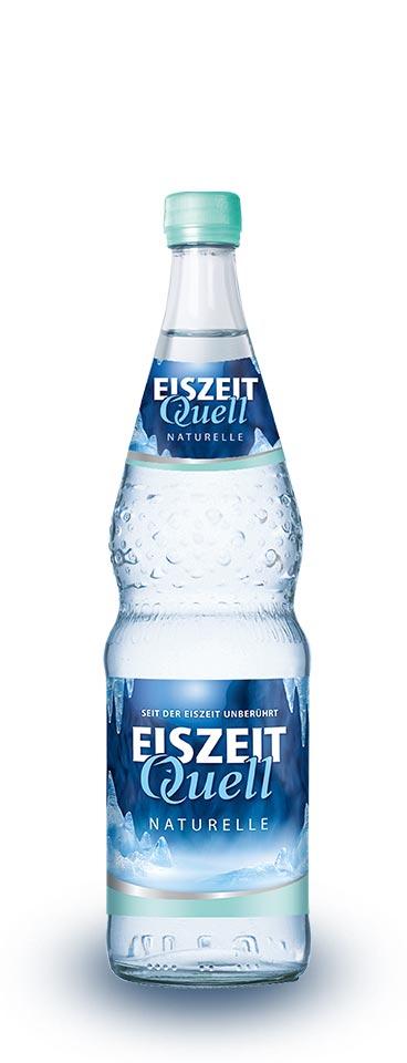EiszeitQuell naturelle Glasflasche