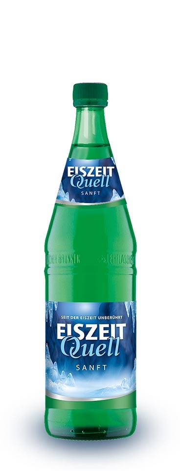 EiszeitQuell sanft Glasflasche