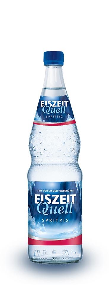 EiszeitQuell spritzig Glasflasche